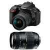 Nikon D5600 + AF-P DX NIKKOR 18-55 mm f/3.5-5.6G VR + Tamron AF 70-300 mm f/4-5,6 Di LD Macro 1/2   Garantie 2 ans