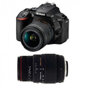 Nikon D5600 + AF-P DX NIKKOR 18-55 mm f/3.5-5.6G VR + Sigma 70-300 mm f/4-5,6 DG APO Macro   2 Years Warranty