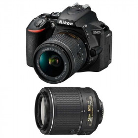 Nikon D5600 + AF-P DX NIKKOR 18-55 mm f/3.5-5.6G VR + AF-S DX 55-200 mm f/4-5.6 ED VR II   2 Years Warranty