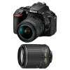 Nikon D5600 + AF-P DX NIKKOR 18-55 mm f/3.5-5.6G VR + AF-S DX 55-200 mm f/4-5.6 ED VR II | Garantie 2 ans