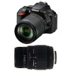 Nikon D5600 + AF-S DX 18-105 mm f/3.5-5.6G ED VR + Sigma 70-300 mm f/4-5,6 DG Macro