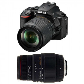 Nikon D5600 + AF-S DX 18-105 mm f/3.5-5.6G ED VR + Sigma 70-300 mm f/4-5,6 DG APO Macro   2 Years Warranty