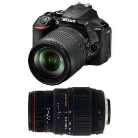 Nikon D5600 + AF-S DX 18-105 mm f/3.5-5.6G ED VR + Sigma 70-300 mm f/4-5,6 DG APO Macro