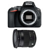 Nikon D5600 + Sigma 17-70 mm f/2,8-4 DC Macro OS HSM Contemporary | Garantie 2 ans