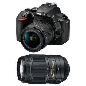 Nikon D5600 + AF-P DX NIKKOR 18-55 mm f/3.5-5.6G VR + AF-S DX 55-300 mm f/4.5-5.6 G ED VR   2 Years Warranty