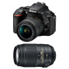 Nikon D5600 + AF-P DX NIKKOR 18-55 mm f/3.5-5.6G VR + AF-S DX 55-300 mm f/4.5-5.6 G ED VR | 2 Years Warranty