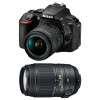 Nikon D5600 + AF-P DX NIKKOR 18-55 mm f/3.5-5.6G VR + AF-S DX 55-300 mm f/4.5-5.6 G ED VR | Garantie 2 ans