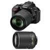 Nikon D5600 + AF-S DX 18-105 mm f/3.5-5.6G ED VR + AF-S DX 55-200 mm f/4-5.6 ED VR II | Garantie 2 ans