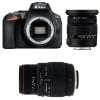 Nikon D5600 + Sigma 17-50 mm f/2,8 DC OS EX HSM + Sigma 70-300 mm f/4-5,6 DG APO Macro | Garantie 2 ans