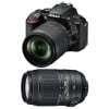 Nikon D5600 + AF-S DX 18-105 mm f/3.5-5.6G ED VR + AF-S DX 55-300 mm f/4.5-5.6 G ED VR | Garantie 2 ans
