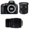 Nikon D5600 + Sigma 17-70 mm f/2,8-4 DC Macro OS HSM Cont. + Sigma 70-300 mm f/4-5,6 DG APO Macro | Garantie 2 ans