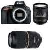 Nikon D5600 + AF-S DX 16-85 mm f/3.5-5.6G ED VR + Tamron SP AF 70-300 mm f/4-5.6 Di VC USD | Garantie 2 ans