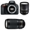 Nikon D5600 + AF-S DX 16-85 mm f/3.5-5.6G ED VR + AF-S 70-300 mm f/4.5-5.6 G IF-ED VR   2 Years Warranty