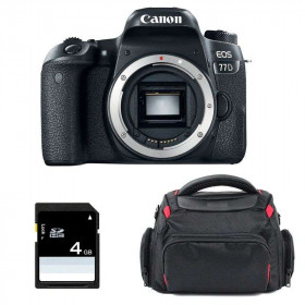 Canon EOS 77D Body + Bag + SD 4Go   2 Years Warranty