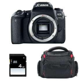 Canon EOS 77D Nu + Sac + SD 4Go