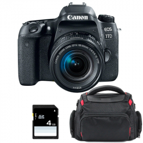 Canon EOS 77D + EF-S 18-55mm f/4-5.6 IS STM + Bag + SD 4Go   2 Years Warranty