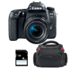 Canon EOS 77D + EF-S 18-55mm f/4-5.6 IS STM + Bolsa + SD 4Go