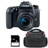 Canon EOS 77D + EF-S 18-55mm f/4-5.6 IS STM + Bolsa + SD 4Go | 2 años de garantía