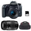 Canon EOS 77D + EF-S 18-55mm f/4-5.6 IS STM + Tamron AF 70-300 mm f/4-5,6 Di LD Macro + Sac + SD 4Go