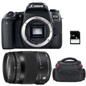 Canon EOS 77D + Sigma 18-200 OS HSM Contemporary + Sac + SD 4Go