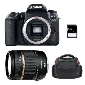Canon EOS 77D + Tamron AF 18-270 mm f/3.5-6.3 Di II VC PZD + Bag + SD 4Go   2 Years Warranty