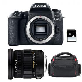 Canon EOS 77D + Sigma 17-50 F2.8 DC OS EX HSM + Bag + SD 4Go   2 Years Warranty