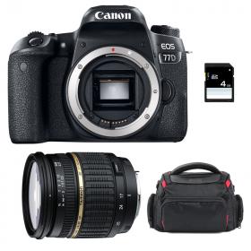 Canon EOS 77D + Tamron SP AF 17-50 f/2.8 XR Di II LD + Bag + SD 4Go   2 Years Warranty