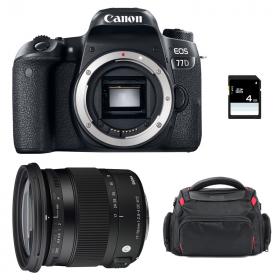 Canon EOS 77D + Sigma 17-70 F2.8-4 DC Macro OS HSM Contemporary + Bag + SD 4Go   2 Years Warranty