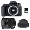 Canon EOS 77D + Sigma 17-70 F2.8-4 DC Macro OS HSM Contemporary + Bolsa + SD 4Go   2 años de garantía