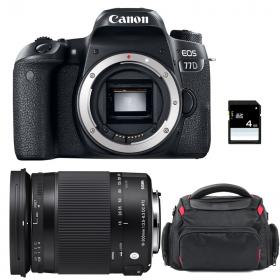 Canon EOS 77D + Sigma 18-300 OS HSM Contemporary + Sac + SD 4Go