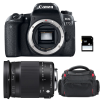 Canon EOS 77D + Sigma 18-300 OS HSM Contemporary + Bolsa + SD 4Go | 2 años de garantía