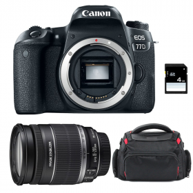 Canon EOS 77D + EF-S 18-200 mm f/3,5-5,6 IS + Sac + SD 4Go