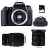 Canon EOS 77D + Sigma 17-50 F2.8 DC OS EX HSM + Sigma 70-300 f/4-5,6 APO DG MACRO + Bag + SD 4 Go | 2 Years Warranty