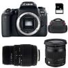 Canon EOS 77D + Sigma 17-70 F2.8-4 DC Macro OS HSM Cont. + Sigma 70-300 f/4-5,6 DG MACRO + Bag + SD 4 Go | 2 Years Warranty