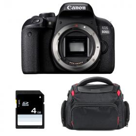 Canon EOS 800D Nu + Sac + SD 4Go