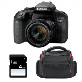 Canon EOS 800D + EF-S 18-55mm f/4-5.6 IS STM + Bolsa + SD 4Go | 2 años de garantía