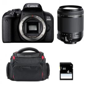 Canon EOS 800D + Tamron 18-200mm F/3.5-6.3 Di II VC + Bolsa + SD 4Go | 2 años de garantía