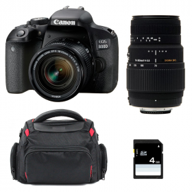 Canon EOS 800D + EF-S 18-55mm f/4-5.6 IS STM + Sigma 70-300 DG MACRO + Bag + SD 4Go   2 Years Warranty