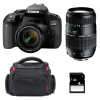 Canon EOS 800D + EF-S 18-55mm f/4-5.6 IS STM + Tamron AF 70-300 mm f/4-5,6 Di LD + Bag + SD 4Go | 2 Years Warranty