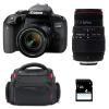 Canon EOS 800D + EF-S 18-55mm f/4-5.6 IS STM + Sigma 70-300 f/4-5,6 APO DG MACRO + Bolsa + SD 4 Go | 2 años de garantía
