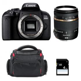 Canon EOS 800D + Tamron AF 18-270 mm f/3.5-6.3 Di II VC PZD + Bag + SD 4Go   2 Years Warranty