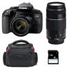 Canon EOS 800D + EF-S 18-55mm f/4-5.6 IS STM + EF 75-300 mm f/4.0-5.6 III + Bolsa + SD 4Go | 2 años de garantía