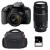 Canon EOS 800D + EF-S 18-55mm f/4-5.6 IS STM + EF 75-300 mm f/4.0-5.6 III + Bag + SD 4Go | 2 Years Warranty