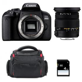 Canon EOS 800D + Sigma 17-50 F2.8 DC OS EX HSM + Sac + SD 4Go