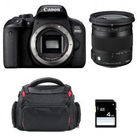 Canon EOS 800D + Sigma 17-70 F2.8-4 DC Macro OS HSM Contemporary + Sac + SD 4Go