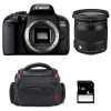 Canon EOS 800D + Sigma 17-70 F2.8-4 DC Macro OS HSM Contemporary + Bag + SD 4Go | 2 Years Warranty