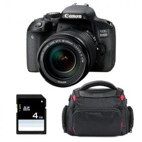 Canon EOS 800D + 18-135 IS STM + Sac + SD 4Go
