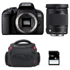 Canon EOS 800D + Sigma 18-300 mm f/3,5-6,3 DC OS HSM Contemporary Macro + Bag + SD 4Go   2 Years Warranty