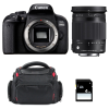 Canon EOS 800D + Sigma 18-300 mm f/3,5-6,3 DC OS HSM Contemporary Macro + Bolsa + SD 4Go