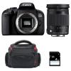 Canon EOS 800D + Sigma 18-300 mm f/3,5-6,3 DC OS HSM Contemporary Macro + Sac + SD 4Go | Garantie 2 ans